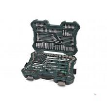 Mannesmann Set di chiavi a bussola 215 pezzi 1/4 - 3/8 - 1/2 - 98430