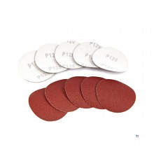 HBM 10 piece set 75 mm. Velcro sanding discs