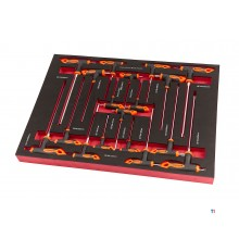 HBM 18-piece t-handle set foam inlay for HBM tool trolley