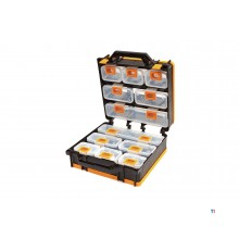 HBM professional storage assortment with 12 separate trays