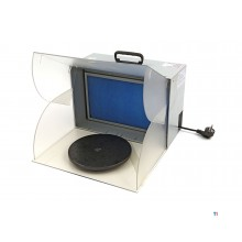 HBM bd 512 airbrush spray booth with LED lighting, extraction, turntable and filter