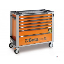 Beta 7 -laatikko XL-työkaluvaunu Orange - C24SA-XL 7 / O - 024002271