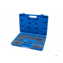 HBM 75-piece Allen, Torx, Spline and Ribe socket wrench set
