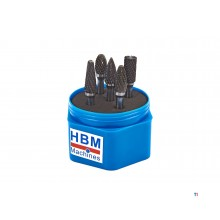 HBM 5-piece solid carbide widia milling set