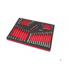 HBM professional 30-piece ring / ratchet / open-ended spanner set foam inlay for HBM tool trolley