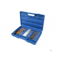 HBM 36-piece brush set with ratchet and extension