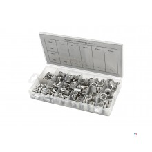 HBM 150 piece blind rivet nuts assortment aluminum