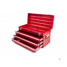 HBM profi tool box with 3 drawers - red