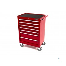 HBM 7 skuffer High Tool Trolley - RED