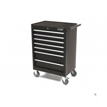 HBM 7 drawers high tool trolley - black
