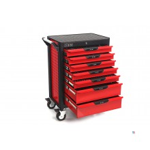 HBM Professional 283 piese Deluxe umplut Tool Trolley RED