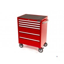 HBM 6 skuffer Deluxe Tool Trolley Red