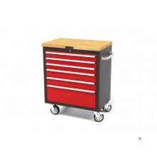 HBM profi 6 drawers tool trolley with wooden top