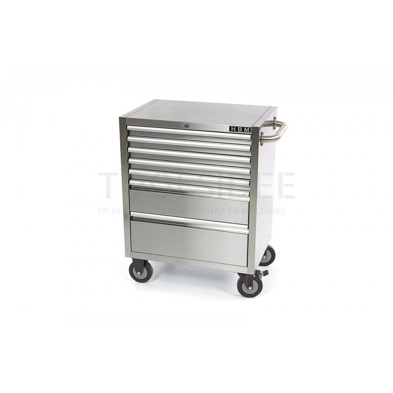 Hbm 7 Drawers Stainless Steel Tool, Stainless Steel Tool Cabinet