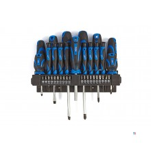 HBM 37-piece professional screwdriver and bit set
