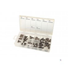 HBM 80 piece half moon wedge assortment