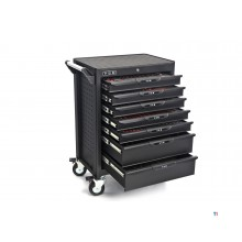 HBM professional 283 deluxe filled high tool trolley black