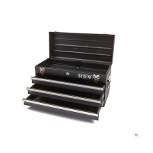 HBM profi tool box with 3 drawers - black