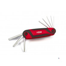 HBM 8-piece English hex key set
