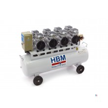 HBM 120 liter professional low noise compressor