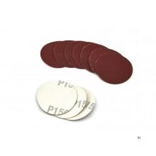 HBM 10 Delige set 50 mm. Velcro Schuurschijfjes, Schuurpads