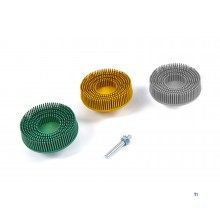 HBM 3 delige Bristle Disc Set met 6 mm. Stiftopname.