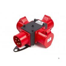 Hbm 400 volt 3-vägs distributionsblock 16 ampere