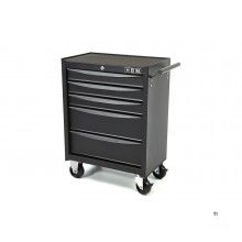 HBM 5 drawers tool trolley small - black