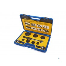 HBM 10-piece sheet metal punch set with ratchet