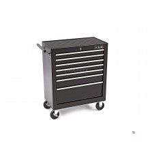 HBM 7 drawers tool trolley small - black