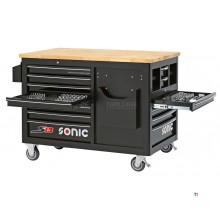 Sonic Filled verktøykasse 540 stk. S13 svart