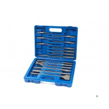 Silverline 15 Piece SDS-Plus Concrete Drill and Chisel Set