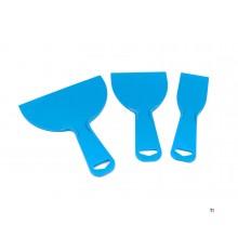 Silverline 3 piese de plastic schraperset