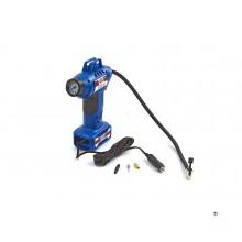 HBM 12 volt mobile compressor tire pump set with LED lighting