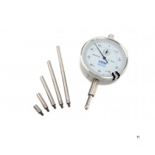 HBM analog dial gauge 0.01 mm stroke 10 mm including 5 extension pins