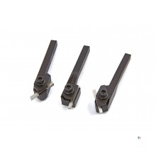 HBM 3-Piece Turning Tool Set med HSS Toolbits