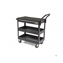 HBM Deluxe 3 Layer Universal Tool Cart With La and Rack