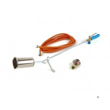 CFH burner 60mm, incl. Hose 5 meters, pressure regulator, fuel saving flame lever