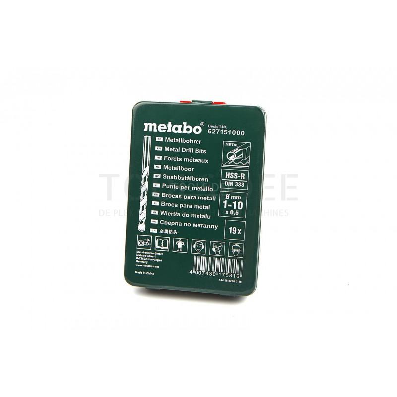 Metabo 627151000 HSS-R 19 Pcs Drill Bit Set