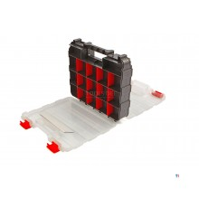 HBM Profi Assortment-boks Dobbeltsidig 32 x 26 x 8 cm med 30 rom
