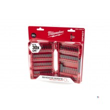 accessori milwaukee shockwave set di punte da 56 pezzi