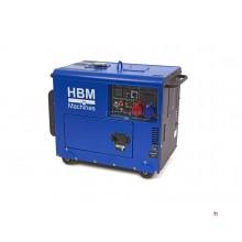 HBM 7900 watt standby silent diesel power generator / aggregate