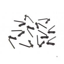 ERRO 12-delt vinklet hæl sett