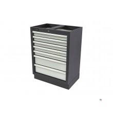 Armoire à outils professionnelle HBM à 7 tiroirs pour aménagement de lieu de travail