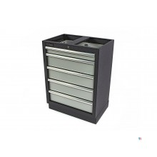 Armoire à outils professionnelle HBM 5 tiroirs pour équipement d'atelier