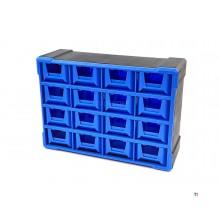 HBM 16 Drawers Drawer cabinet, Assortment cabinet, Storage system Model 1