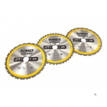DeWALT DT1962-QZ 3 Piece Circular Saw Blades Set 216x30mm 2x24 Teeth 1x40 Teeth