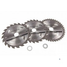 Silverline 3-piece saw blade set 184 mm