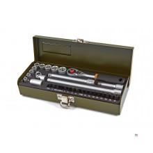 Proxxon 32 piece socket wrench set with bits 1/4