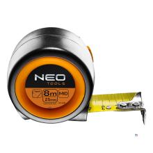 metro a nastro neo 8 mtr compatto, larghezza di banda 25 mm rivestito in nylon magnetico